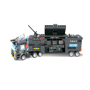 Image 4 - 8 in 1 SWAT City Police Station Toys Weapon Gun Block Assembled Building Block Toys For Children Compatible with Classic Gift