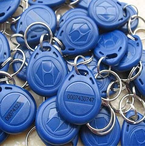 RF proximity EM card key fob 125kHz,shape card,keyfob tags +min:500pcs