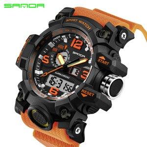 Image 5 - SANDA top luxury brand G style mens military sports watch LED digital watch waterproof mens watch Relogio Masculino