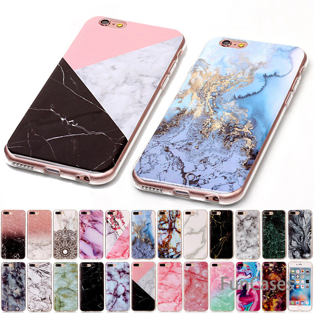 For iPod touch 5 6 Marble Soft TPU IMD Silicone Cover Case For iPhone 4 4S 5 5C 5S SE SE2 6 6S 7 8 Plus Fundas Coque Bags B02(China)