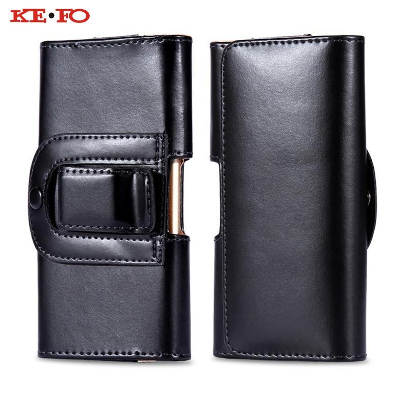 KEFO Belt Clip Holster PU Leather Pouch For Xiaomi Redmi 3S 4 4A 4X 5 Plus 5A Waist Case Cover For Xiaomi Redmi Note 3 4 4X 5A