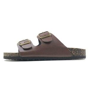 Image 3 - 新 2019 夏のスタイルの靴女性サンダルコルクサンダルトップ品質バックルカジュアルスリッパフリップフロッププラスサイズ 6  11 無料 S