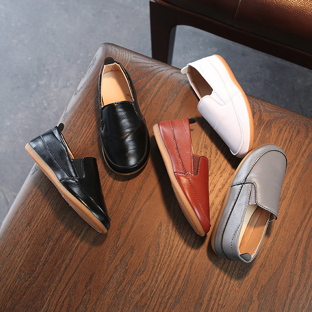 Baby Boys Shoes Leather Soft Sole Slip On Loafers Shoes ...