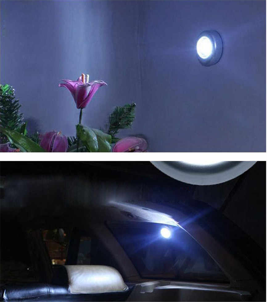 2017 DIY New High Qualified 3 LED Wall Light Kitchen Cabinet Closet Lighting Sticker Tap Touch Lamp Lamps Wholesales M035