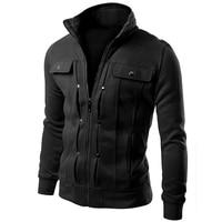 Brand 2017 Cardigan Multi Button Hoodies Men Fashion Tracksuit Male Sweatshirt Mens Purpose Tour 4XL