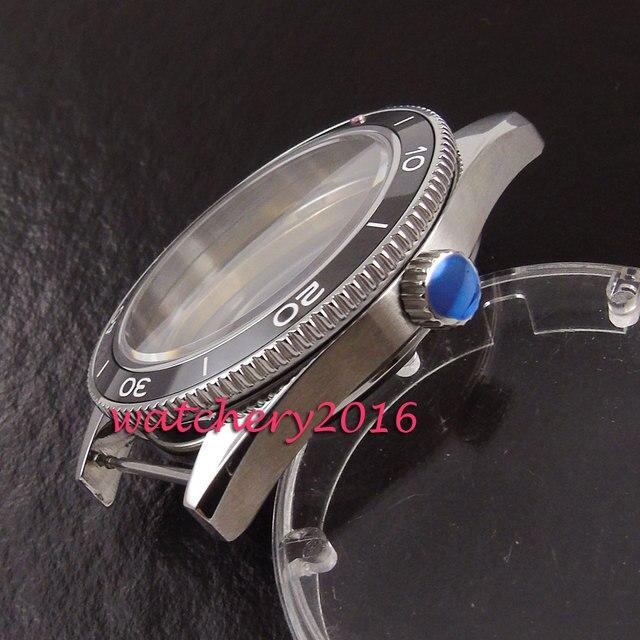 41mm Debert sapphire stainless steel case fit eta 2824 2836 miyota 8215 8205 automatic watch case