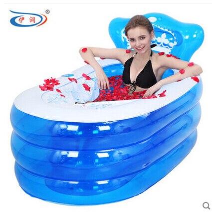 130x75x70 cm bagno prodotti adulti spa pvc vasca da bagno con pompa portatile vasca gonfiabile vasca