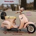 Vespa vintage Car 1955 Italy old car vintage metal toy 2016 hot wheel motorcycle 1:12  vespa model  motor collection