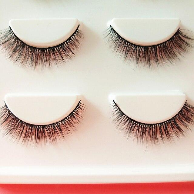 YOKPN New 3D Stereo Multilayer Fake Eyelashes Black Cotton Stalk Eyelash Natural Simulation False Eye Lashes Makeup Tips 3 Pairs 3
