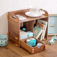 Desktop drawer storage box wooden stationery bookshelf desk creative wooden finishing rack wx41061701