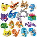 Pokemon Pikachu Horsea Onix Farfetch`d Flareon Vaporeon Jolteon Venusaur Blastoise Nano Blocks Building Brick Educational Toys