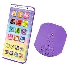 Детский музыкальный игрушечный смартфон с usb-портом и сенсорным экраном, развивающие игрушки для детей