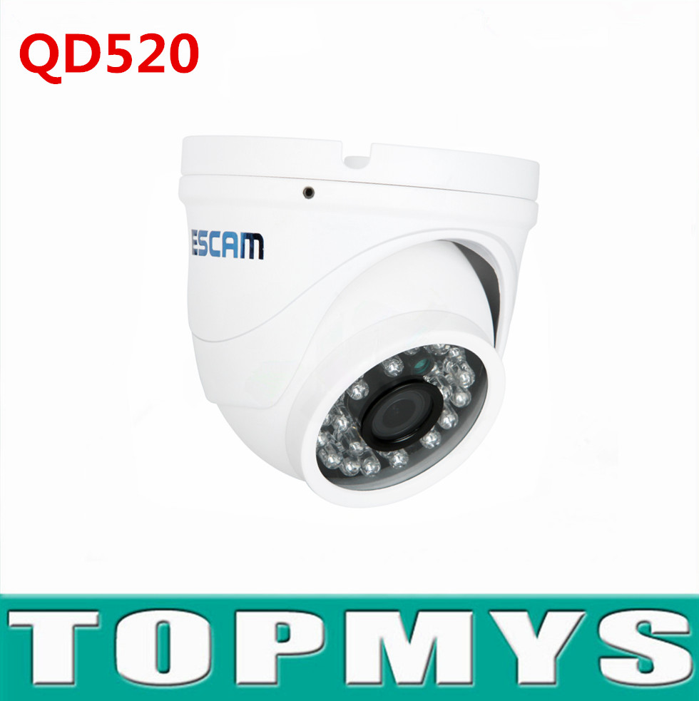 Escam IP camera QD520 720P mini Dome network camera IR night vision home security CCTV camera support Onvif Waterproof IP66 escam p2p dome ip camera onivf home security cctv smart phone view