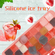 36 Grids Silicone Ice Cube DIY Tray Maker Fruit Mold Drinks Mould Square Shape Food Grade Bar Kitchen