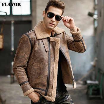 Men's real leather jacket motorcycle pigskin Genuine Leather jackets winter warm coat Aviator jacket flight bomber jacket - DISCOUNT ITEM  51% OFF All Category