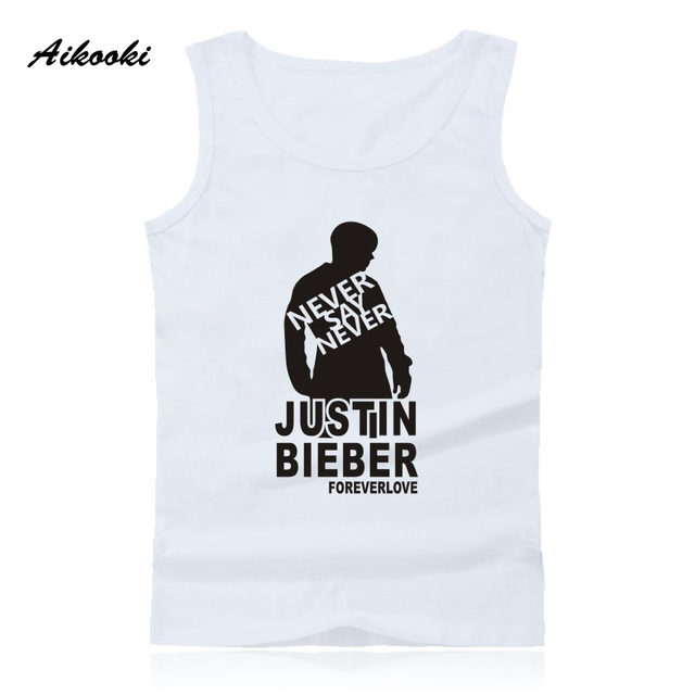 15932f755a4aa US $13.99 |Aikooki Shelves Justin Bieber Vest Men Women Sleeveless Cotton  Tank Top Hip Hop Summer Male Female Fashion Pop Casual Vest Tops-in Tank ...
