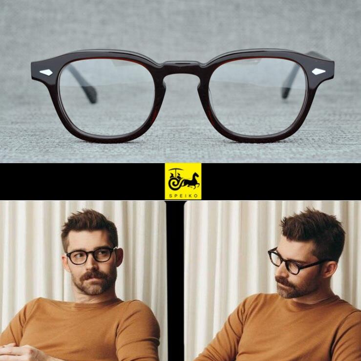 SPEIKO Hand Made Acetate Myopia Glasses Reading Glasses 1.74 Anti-blue Lens Lemtosh 46 Retro Round Style Eyewear Vintage Glasses