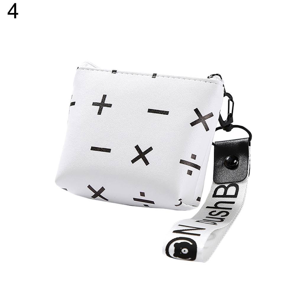 Cartoon Women Mini Geometric Coins Keys Purse Holder Clutch Bag Case Wallet Key Bag Girl Kids Mini Change Wallets Money Bag