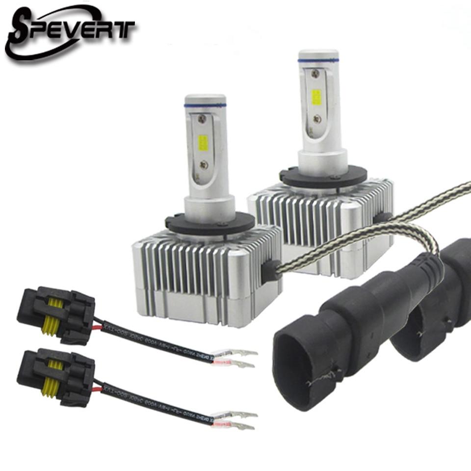 SPEVERT H1 H4 H7 H11 D1S D3S D2S D4S LED De Voiture phare Ampoule Brouillard lumière 110 W 20000LM 6000 K Auto Phare 12 v 24 v