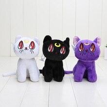 15cm Anime Sailor Moon Cat Luna Artemis Stuffed Animals Plush Toy Soft Dolls For Children