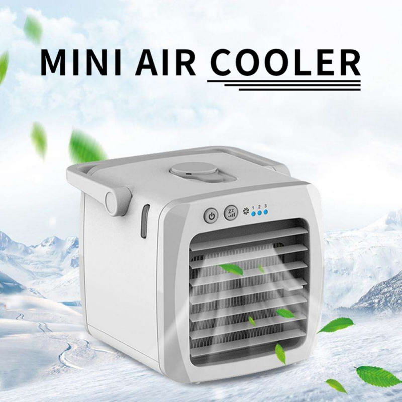 Portable Air Cooler Mini Size USB Charging Quiet Desktop Conditioner Humidifier Purifier Cooling Fan Blower For Outdoor Office