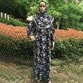 Печатный Лайкры Молитва Платье абая Джилбаба Мусульманин Макси 1 шт., оптовая Исламской Химар, можете выбрать цвета, бесплатная доставка, PHPRA001