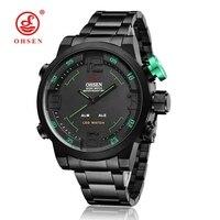 Original Fashion Brand OHSEN Military Sports Watch Men Alloy Case Quartz Digital Watch Waterproof Running Relogio