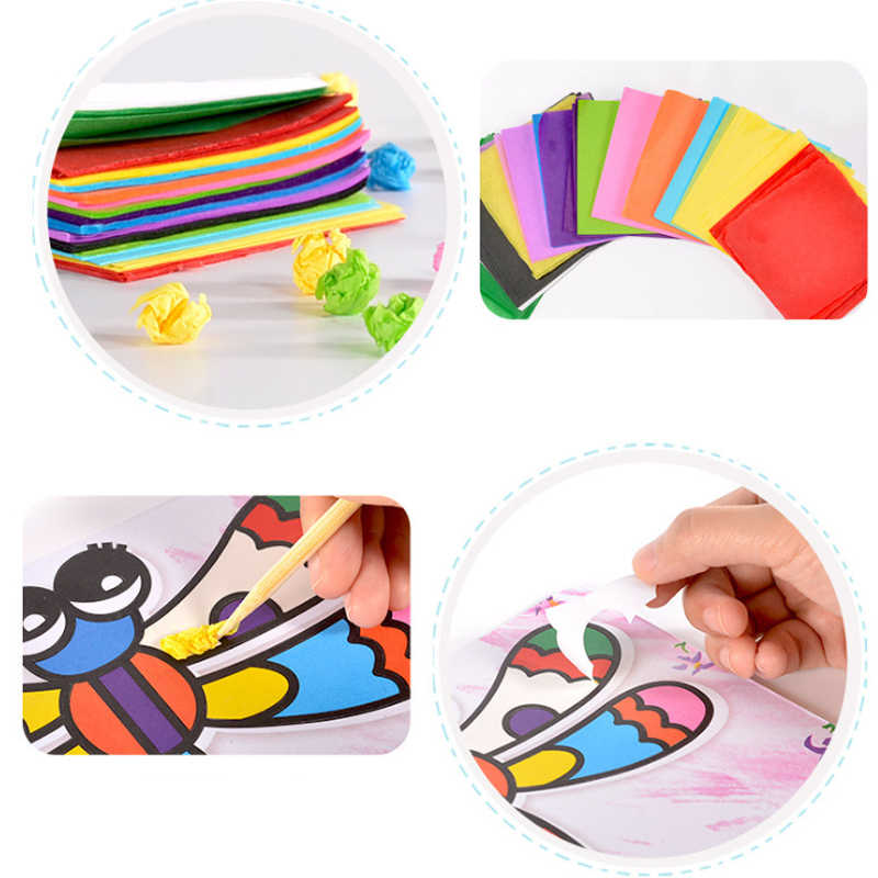 Детский 3D DIY Ручная Рисование Живопись и воображение обучающая игрушка наклейки Окрашенные бумажные игрушки Набор для творчества идеальный подарок для детей