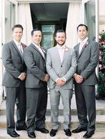 Gray Light Gray Suits For Men Notch Lapel Two Buttons Formal Men Suits Wedding Groom Custome Homme FashionBlazr(Jacket+Pant+Tie)