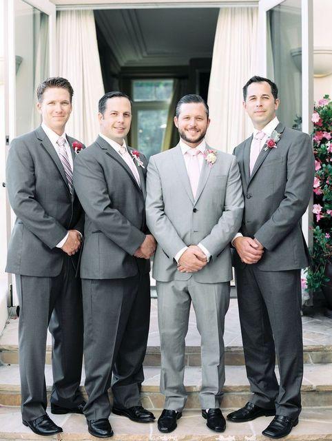 Gray Light Gray Suits For Men Notch Lapel Two Buttons Formal Men ...