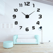 2015 New fashion 3D big size wall clock mirror sticker DIY wall clocks home decoration wall clock meetting room wall clock цена в Москве и Питере