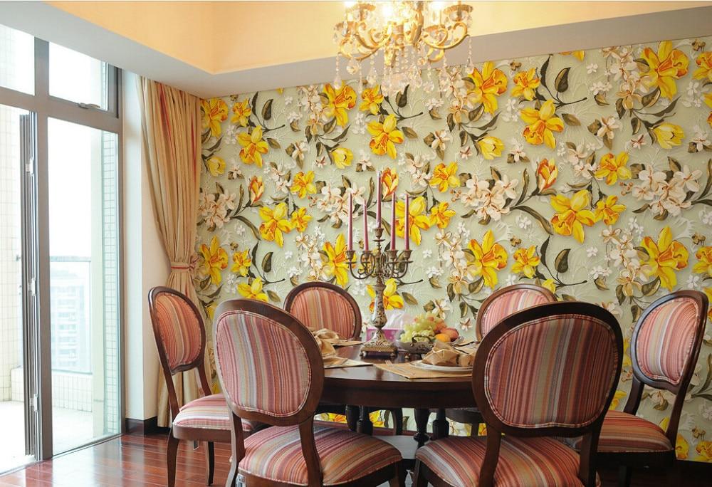 Custom floral wallpaper,European style garden flower,3D retro mural for living room bedroom backdrop waterproof wallpaper насос садовый karcher bp 3 garden