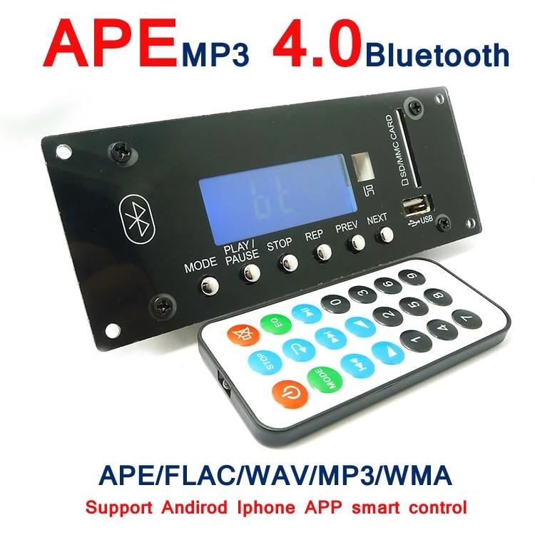 UK/_ 12V Lossless Digital Display Bluetooth MP3 Decode Board WMA FM Audio Module