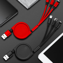 USB Cable 3in1 Function Data Line Fast Charging Cables For iPhone Android type-c Retractable Multi Micro Usb Fast Charger цена 2017