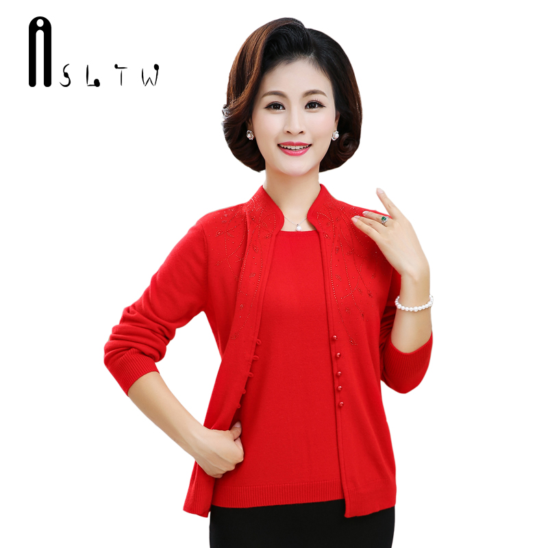 ASLTW Cashmere Women's Sweater New Fake Two Pieces Long Sleeve Female Sweaters Fashion Cashmere Pull Femme Thick Women Pullover
