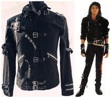 leather jacket black color for singer dancer show male DS dance costumes outerwear coat DJ jazz nightclub performance bar