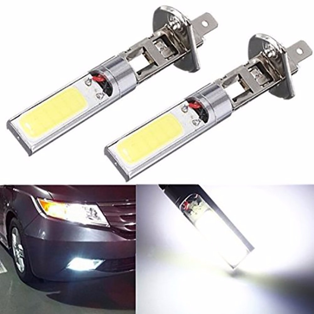 High Quality 2x <font><b>H1</b></font> 12V 10W <font><b>H1</b></font> COB <font><b>LED</b></font> Car Fog Light Bulbs 6000K <font><b>LED</b></font> Auto Car Driving <font><b>Lamp</b></font> <font><b>H1</b></font> Running Lights For Auto image