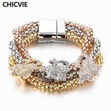 Chicvie браслет хорошего качества с кристаллами для пары и женщин