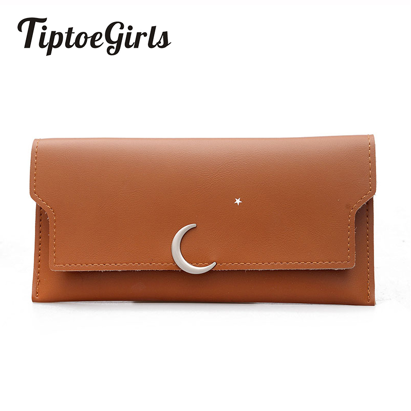 Wallet Female Long Section 2018 New European and American Fashion Wild Simple Thin Section Moon and Stars Coin Wallet Tide handbag 2018 new wallet european and american fashion eighty percent off ladies long wallet