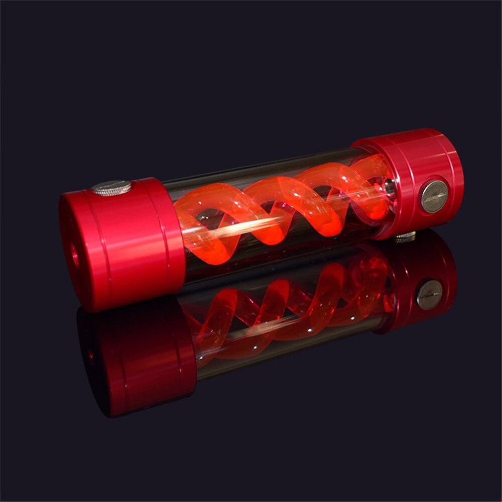 50mm x 200mm réservoir Helix C1/4 couvercle en métal spirale T Virus Style eau liquide refroidissement réservoir ordinateur refroidissement refroidisseur pour châssis