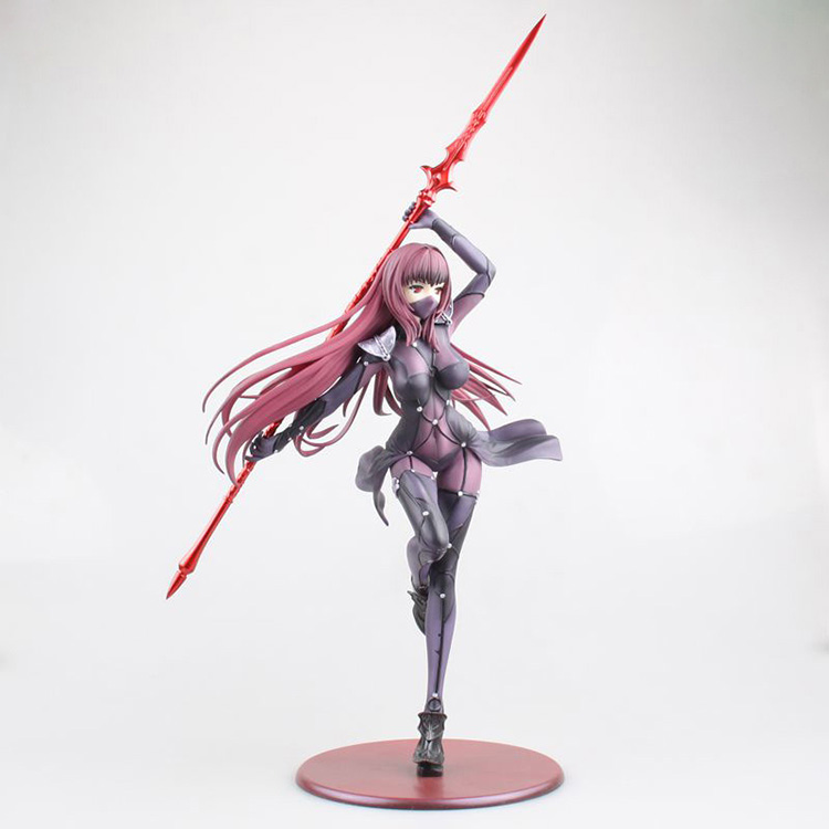 new 28CM Fate/Grand Order Lancer Scathach Anime Figures Aquamarine Pre-Painted Action Figure Collectible Model Toy
