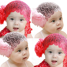 Hot Korea Lace 3 Color Kids Children Floral Flower Headband Baby Girl Elastic Hairband Hair Accessories Hair Band Ornament