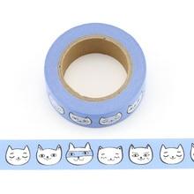 1pc cute cats emoji Decorative Washi Tape Paper DIY Scrapbooking Adhesive 10m School Office Supply