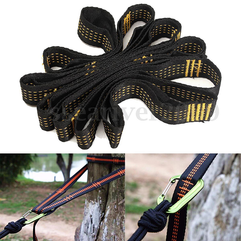 Outdoor Sleeping Gear Hammocks Outdoor High Strength Hammock Straps Rope Hanging Belt Hanging Straps Camping US