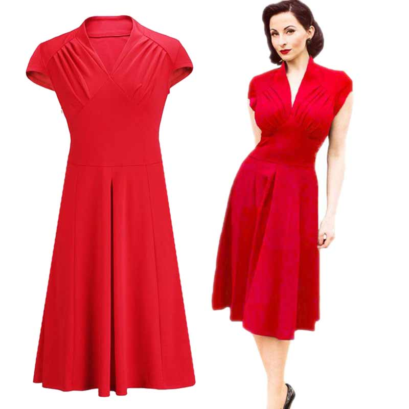 Online Buy Wholesale 1940s party dress from China 1940s party ...