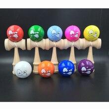 6 см пародия забавное лицо Kendama Бук деревянные жонглирование умелые шары профессиональный спорт на открытом воздухе игрушки для детей взрослых