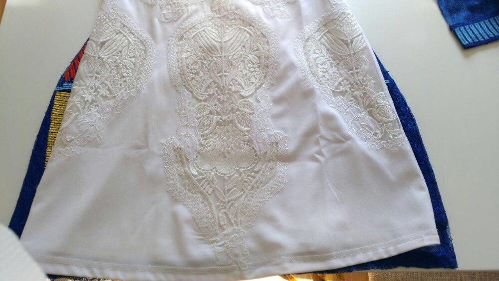 Robe Femmes Flare Douce Blanc Élégante Broderie Haute De Mode 2018 Manches Qualité fq1v1B