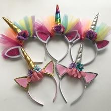 10PCS Glitter Unicorn Horns Headband,For Girls And Kids 2017 Felt Padded Headband Hair Accessories,DIY Party