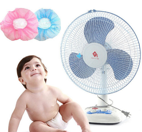 1 PC Child Finger Guard Mesh Fan Cover Protect Baby Fan Safety Cover Dust Cover Safety Product Protection of Children in Electric Fan Covers from Home Garden