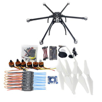 JMT Six Axis Folding Hexacopter Aircraft Unassembled Frame GPS Drone Kit With APM 2 8 Multicopter